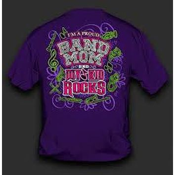 SALE Sweet Thing Funny Proud Band Mom My Kid Rocks Purple Girlie Bright T-Shirt