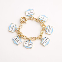 Vineyard Signs Charm Bracelet