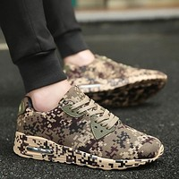 Men's Running Sneakers Athletic Camouflage Breathable Trainer Shoes
