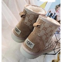¡°UGG¡±¡°GUCCI¡±Fashionable uggs, woolly mid-cylinder, thickened non-slip snowshoes, ladies