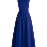ModCloth Long Sleeveless Maxi Dream Evening Dress