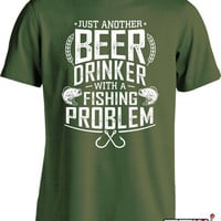 Beer And Fishing T Shirt Gifts For Fisherman Fathers Day Fisherman T Shirt Beer Lover Gift Fishing Gifts For Men Fishing Presents Mens MD668