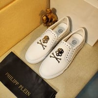 PhiliPP Plein  Men Fashion Boots fashionable Casual leather Breathable Sneakers Running Shoes