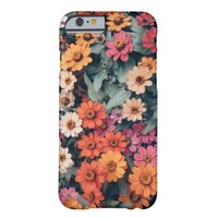 Pastel Wild Flowers Barely There iPhone 6 Case