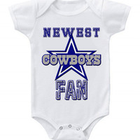 NEW Football Baby Bodysuits Creeper NFL Dallas Cowboys