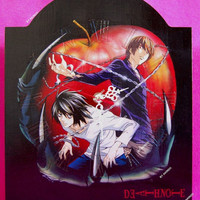 Death Note wall clock, handpainted!