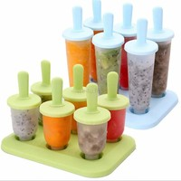 Pop Popsicle Mold Tray Pan Kitchen Frozen 6 Cell Lolly Mould Ice Cream Maker New