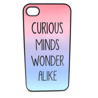 Curious Minds Wonder Alike Phone Case
