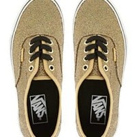 Vans Authentic Gold Glitter Trainers at asos.com