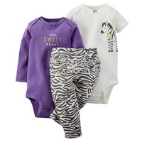 Carter's Animal Print Bodysuit & Ruffled Pants Set - Baby Girl, Size: