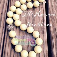 Ladies yellow bib necklace - Hanna Marin inspired - ladies statement necklace- yellow statement necklace - ladies bib necklace