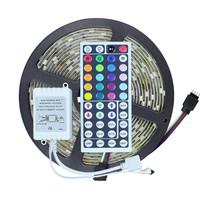 5M LED Strip Light 5050 RGB 5M 150Leds Waterproof IP65 DC12V RGB with 44Key RGB Remote Controller Outdoor LED Tape Ribbon Light