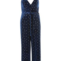 Star Velvet Wrap Jumpsuit