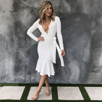 Stand By You White Midi Dress