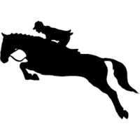 Jumper Horse Die Cut Decal or Tumbler Decal- 6 Year Outdoor Rated Vinyl_Item#10514