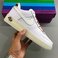 Nike Air Force 1 AF1 low-top mesh breathable flat sneakers shoes