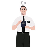 Book of Mormon card - Hello - funny greeting card