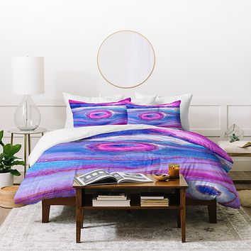 Viviana Gonzalez AGATE Inspired Watercolor Abstract 05 Duvet Cover