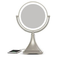 iHome® Portable Bluetooth® Double-Sided 9-Inch Vanity Mirror Speaker