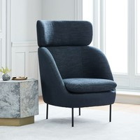 Modern Curved High-Back Chair