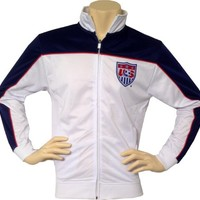 Team USA Soccer Official 2014 World Cup Men's Track Jacket-Home-Large