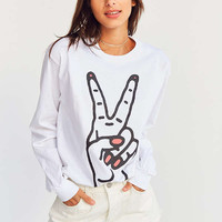 Silence + Noise Be At Peace Long Sleeve Tee | Urban Outfitters