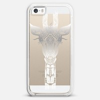 WHITE GIRAFFE Crystal Clear iphone case iPhone 5s case by Monika Strigel | Casetify