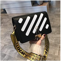 OFF-WHITE New small square bag fashion striped bag one-shoulder messenger bag