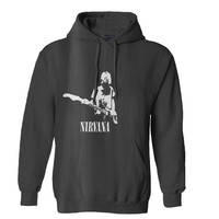 nirvana kurt cobain vector wallpaper Mens Hoodie and Womens Hoodie