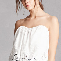 Sweetheart Eyelet Strapless Top