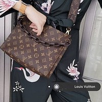 Louis Vuitton LV Classic Presbyopia Canvas Chain Clutch Toilet Bag