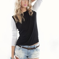 Black and White Knit | Shop Tops and Sweaters at MessesOfDresses.com