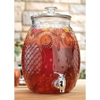 Home Essentials Owl Glass Beverage Dispenser - 2.3 Gal (8021)