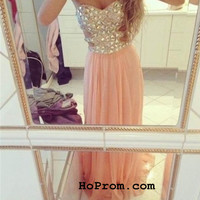Pink Prom Dresses Long Prom Dresses Evening Dress