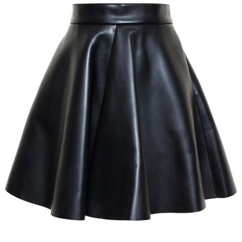 Faux Leather Skirt - MSGM