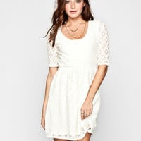 Roxy Out There Dress Cream  In Sizes
