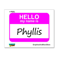 Phyllis Hello My Name Is Sticker