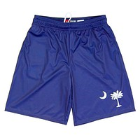 South Carolina Palmetto Flag Lacrosse Shorts