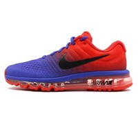 NIKE AirMax Trending Men Personality Sports Air Cushion Running Shoes Sneakers Blue Red Gradient I