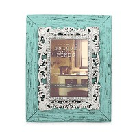 Argento Unique Finds 4-Inch x 6-Inch Rustic Brocade Scroll Frame