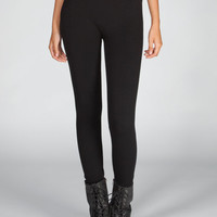 Just One French Terry Leggings Black  In Sizes