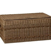 Woven Trunk with Rope Handles   Pottery Barn