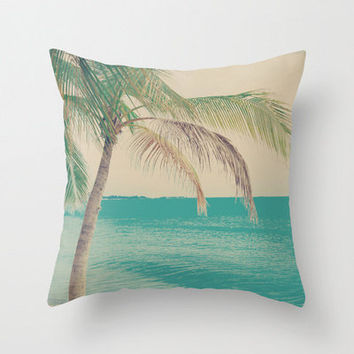 Pillow Cover Beach Pillow Turquoise Pillow Summer Pillow Vintage Pillow Summer Pillow Sea Pillow Decoration 16 x 16 or 18 x 18