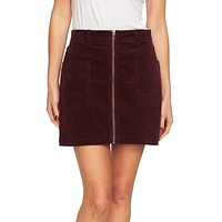 1.state Corduroy Zip-Front Mini Skirt,Various Colors