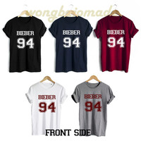 Justin Bieber Shirt Bieber 94 Date of Birth Front Side Unisex Tshirt