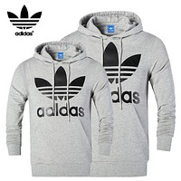 A ADIDAS Stylish Unisex Casual Long Sleeve Hoodie Pullover Top Sweater Sweatshirt I