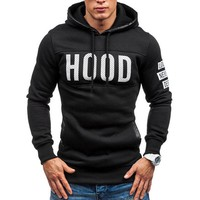 2017 Men Warm Hoodie Slim Hooded Coat Sweatshirt Pullover Tops Winter Man Outwear Pullovers For Male Fashion 2 Color Coat