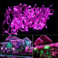 20M 200LED Bulbs Christmas Fairy Party String Lights Waterproof Pink 110V US