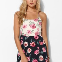 Glamorous Floral Print-Mix Slip Dress - Urban Outfitters