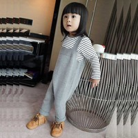 2016 Spring Bobo Style Baby Jean Overalls Boys Girls Cotton Harem Knitted Pants Baby Kids Toddlers PP Pants Baby Harem Pants